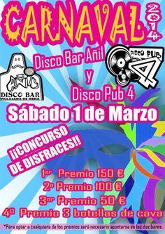 Carnaval 2014, el 1 de Marzo en Disco Bar Añil