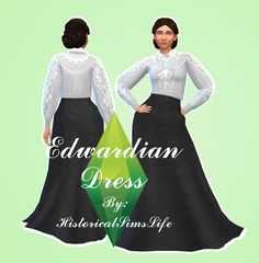 TS4: Edwardian Dress - History Lover's Sims Blog