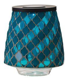 Look at this #zulilyfind! Blue Glass Solar Mosaic Hurricane #zulilyfinds