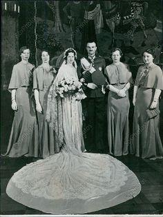 T25 1937 Princess Alexandrine Louise Wedding Royalty Original Press Photo | eBay