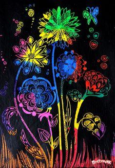 Colorful Drawings, Art Drawings, Kratz Kunst, Scratchboard Art, 6th Grade Art, Scratch Art, Easy Art Projects, Encaustic Art, Art Lessons Elementary