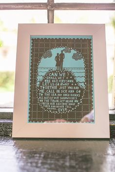 Beautiful Rob Ryan wedding print. Photography by aledgarfieldphotography.co.uk