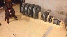 DIY weight rack More