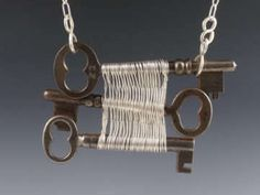 Captured Keys - Wire Woven Designs by Original Sin Jewelry