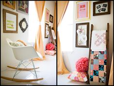 Entering the girl world {the nursery} » ashleyannphotography.com  love the Amy Butler quilt squares and then everything about this room ;)