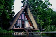 1960s A-Frame cabin in central Minnesota Submitted by Scott Webster