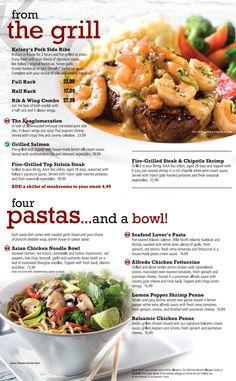 Kelsey's menu