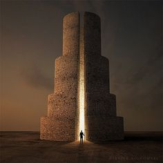 Breathtaking Digital Art by Leszek Bujnowski ~YES it IS! But I want to walk into a cake like that and  chocolate please! ~ LOL