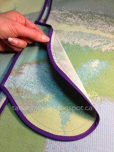 Tatianologia: Verarbeitung der Tasche in der Naht
