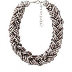 Women's Nouv-Elle Plait Chain Necklace ($48) ❤ liked on Polyvore