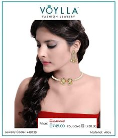 #Shop #Amer Grand Mirrors And #Jhumar Choker And #Earrings #Set for #Women online at best #prices in #India from #Voylla.com.