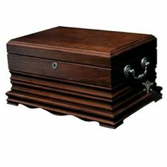 125-Cigar Solid Wood Cigar Caddy Antique Humidor with Hygrometer by Quality Importers. $170.72. Holds up to 125 Cigars. Antique Tarnished Brass Handles. Lock and Key with Tassel. Solid Wood Construction. Tarnished Brass Quadrant & Piano Hinges. Our medium desktop humidors are completely lined with premium kiln-dried Spanish cedar and feature QI's SureSeal® Technology to insure proper lid seal on closure. Also featured are a scratch-resistant felt-lined bottom, a...