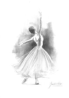 Ballerina Drawing, Ballet Drawings, Dancing Drawings, Pencil Art Drawings, Cute Drawings, Drawing Sketches, Sketching, Ballet Art, Ballet Dancers