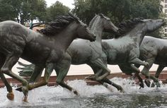 Mustangs at Las Colinas Sculpture - Texas, USA Sculptures, Lion Sculpture, Texas Usa, More Pictures, Around The Worlds, United States, Horses, Mustangs, Statues