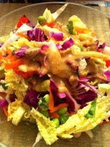 Cabbage Salad with Thai Peanut Dressing