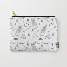 Watercolor gray kitten Carry-All Pouch