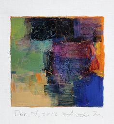 Dec 29 2012 Original Abstract Oil Painting by hiroshimatsumoto, $60.00