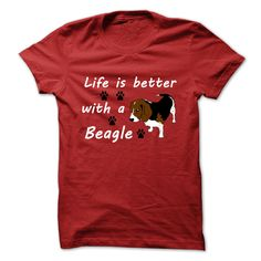 Can you imagine your life without a Beagle? Neither can we! Life is Better with a Beagle!! Celebrate how much Beagles add to our lives with this cute new design!
