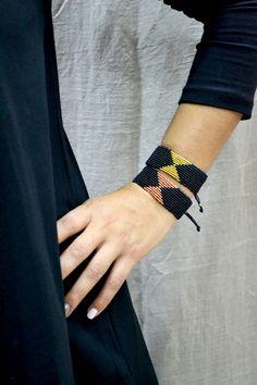 Macrame pulsera brazalete Micro macrame pulsera por Anadalis
