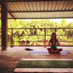 Yoga... the science of meditation :) - At Shri Kali Ashram, South Goa, India.