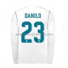 Billige Fotballdrakter Real Madrid 2017-18 Danilo 23 Hjemmedrakt Langermet
