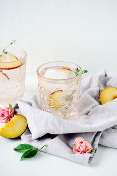 Thyme & Plum Champagne Cocktail | lark & linen