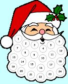 Add cotton balls to numbers as a count down to Christmas....super fun!