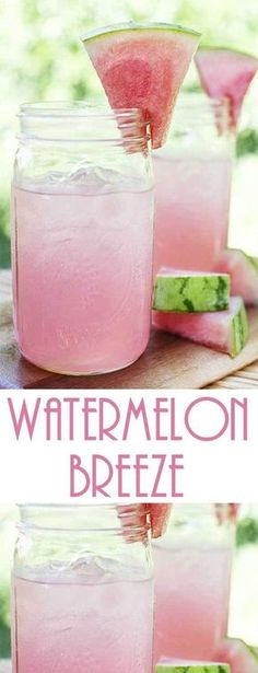 Fresh, light and low cal summer drinks that are an easy breezy treat! All you need is a blender to whip up this Watermelon Breeze recipe. via Flavorite Food & Drinks Fresh, light and low cal summer drinks that are an easy breezy treat! All you need is a b Refreshing Drinks, Fun Drinks, Healthy Drinks, Nutrition Drinks, Low Calorie Drinks, Healthy Food, Summer Beverages, Food And Drinks, Watermelon Nutrition