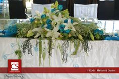 Mesa de novios, diseño floral