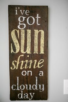 Farmhouse chic nursery and kid's room Chic Nursery, You Are My Sunshine, Sunshine Sunshine, Sunshine Quotes, Sunshine Crafts, Subway Art, Subway Signs, Cloudy Day, Farmhouse Chic