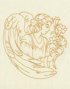 Redwork Angels 08