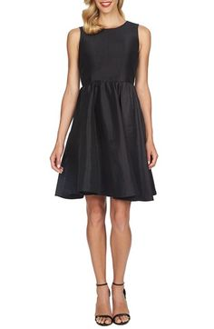 CeCe by Cynthia Steffe Open Back Stretch Taffeta Fit & Flare Dress with Bow Detail available at #Nordstrom