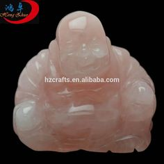 Natural rose quartz crystal buddha statue,figure of the Buddha; image of the Buddha, such crystal carvings as crystal gifts