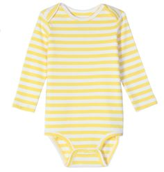 the long sleeve stripe babysuit - Only from Primary - Solid color kids clothes - No logos, slogans, or sequins - All under $25