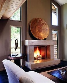 Protruding, Rectangles  Fireplace Surrounds  Buddy Rhodes Concrete Products  San Francisco, CA