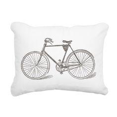 Vintage Bicycle Rectangular Canvas Pillow on CafePress.com