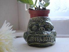 Squid Art Green Ceramic Planter