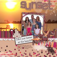 The family visited Chesapeake Bay and got this nice shot of a sunset! I used: Boomers Girls Designs: Beach girls kit: http://store.gingerscraps.net/Beach-Girls.html LITTLE RAD TRIO: Indian Summertemplate: http://store.gingerscraps.net/Indian-Summer-templates.html B2N2 Evening Time -grunge   http://store.gingerscraps.net/Evening-Time-Grunges.html
