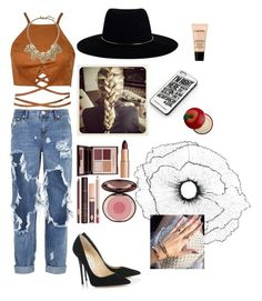 """""""I need you"""" by daphne-mediana ❤ liked on Polyvore featuring One Teaspoon, Jimmy Choo, Zimmermann, Charlotte Tilbury, Banana Republic, Lancôme, Samsung, Tony Moly and Home Decorators Collection"""