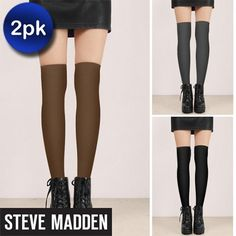 These super soft and ultra comfortable Steve Madden knee-highs will keep you warm and stylish on those blustery cold days this fall and winter....