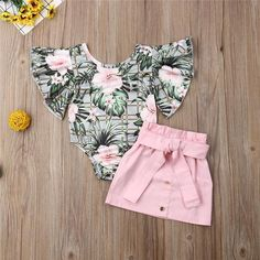 Pudcoco Newest Fashion Toddler Baby Girl Clothes Flower Print Ruffle Sleeve Romper Tops Mini Skirt Outfits Clothes Summer , Cute Baby Girl Outfits, Girls Summer Outfits, Toddler Girl Outfits, Cute Baby Clothes, Baby Girl Dresses, Summer Clothes, Summer Girls, Toddler Girls, Baby Girl Fashion