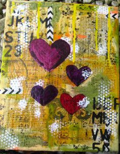 Art Mixed Media Canvas Wall Hanging. 12x12 Home by CroppinSpree, $60.00