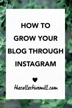 How to Grow Your Blog Through Instagram: Instagram is a great tool to use in order to grow your blog. It allows you to connect with other people within your niche, build your authority, and promote new products. Plus, it's free! So why not take advantage of it? Click the link for 8 easy and actionable ways to grow your blog through Instagram. -http://TheCollectiveMill.com
