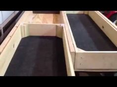 Progression of a truck bed drawer system that I am building. Cost of materials were around Sorry for the poor quality and narration. First time making a. Truck Bed Drawers, Truck Bed Storage, Van Storage, Bed With Drawers, Storage Ideas, Boot Storage, Truck Bed Camping, Off Road Camping, Pick Up