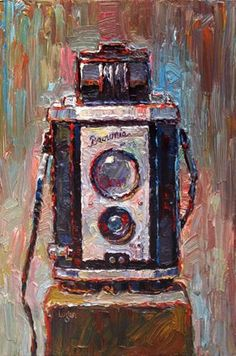 """Brownie Reflex Camera"" - Original Fine Art for Sale - © Raymond Logan"