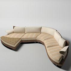 3d model il loft super - il loft super roy curved sofa modern contemporary... by shop3ds