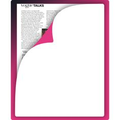 Fuchsia background decoration page curl effect ❤ liked on Polyvore featuring frames, backgrounds, text, effects, borders, quotes, magazine, filler, article and phrase