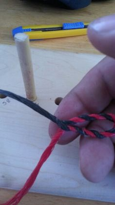 Making Flemish Twist bow strings is an art.