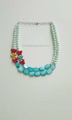 Hey, I found this really awesome Etsy listing at https://www.etsy.com/listing/232366818/turquoise-statement-necklace-turquoise