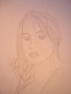 Jennifer Lawrence drawing Hunger Games